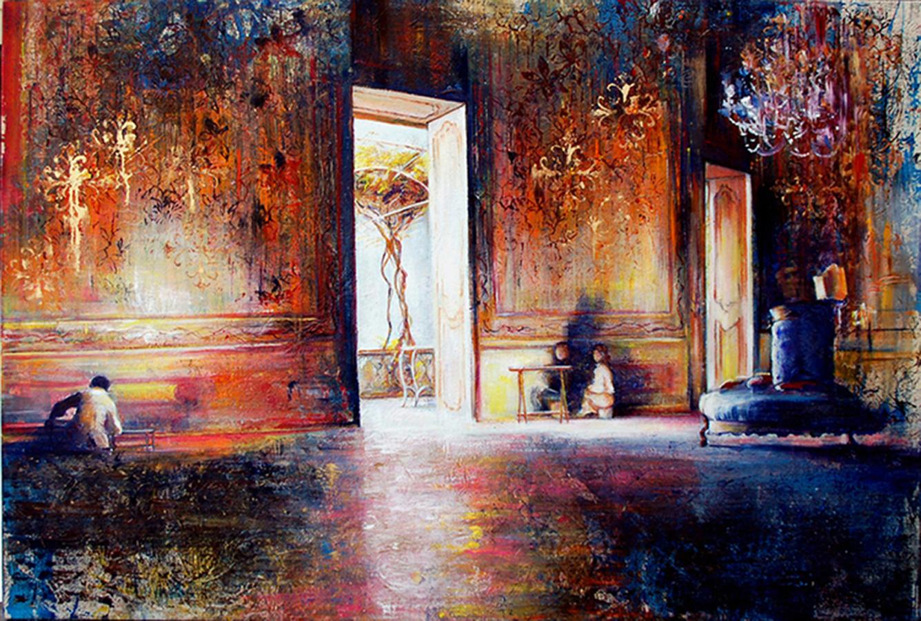 7   Restorers in the ballroom, Palazzo Aiutamicristo, Palermo