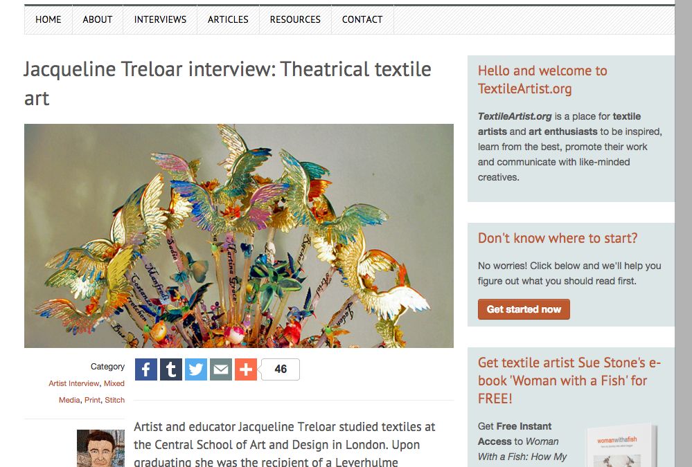 Interview with TextileArtist.org